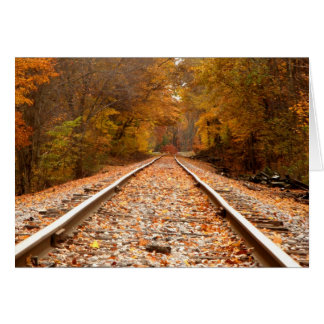 Autumn Tracks notecard Card