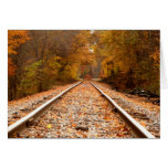 Autumn Tracks notecard Stationery Note Card