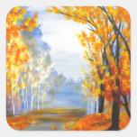 Autumn Trail.jpg Square Sticker