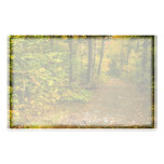 Autumn Trail stationary Custom Stationery