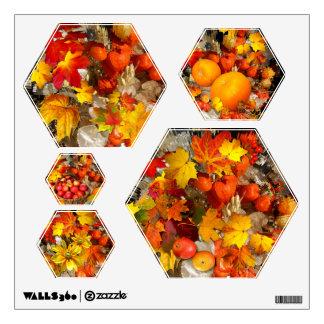 Autumn Treasures ~ Wall Decal (Hexagon)