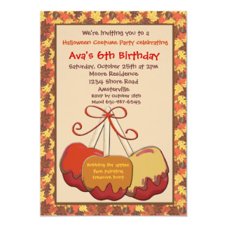 Autumn Treats Party Invitation