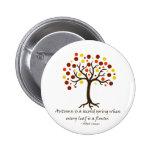 Autumn Tree 2 Inch Round Button