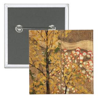 Autumn Tree 2 Inch Square Button