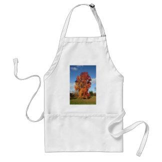 autumn tree adult apron