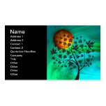 Autumn Tree and Harvest Moon Double-Sided Standard Business Cards (Pack Of 100)