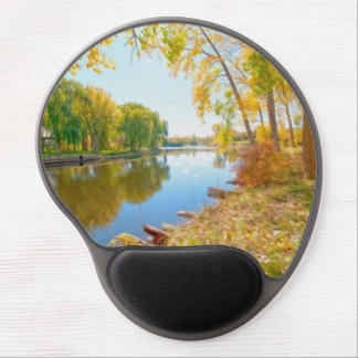Autumn Tree And River Gel Mousepads