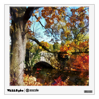 Autumn Tree by Small Stone Bridge Wall Sticker