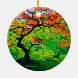 Autumn Tree Ceramic Ornament