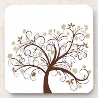 Autumn Tree Cork Coaster