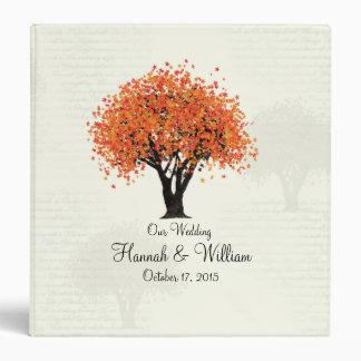 Autumn Tree Dancing Blooms Orange Vinyl Binder