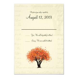 Autumn Tree Dancing Blooms Response 3.5x5 Paper Invitation Card