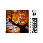 Autumn Tree Fall Leaf Leaves Love Postage Stamps