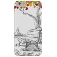 Autumn Tree, Falling Leaves Barely There iPhone 6 Plus Case