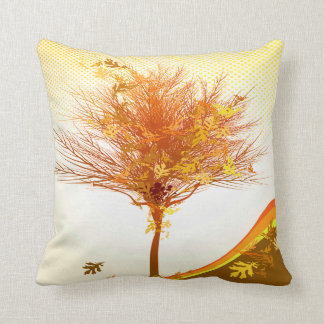 Autumn Tree In Fall Colors Pillow