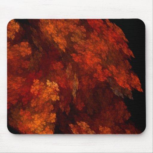 Autumn Tree In Firelight Mouse Pad