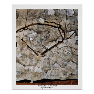 Autumn Tree In The Wind By Schiele Egon Posters