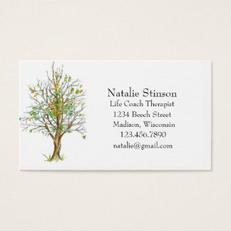 Autumn Tree Ink Drawing Business Card