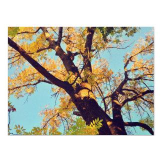 "Autumn tree 6.5"" x 8.75"" invitation card"
