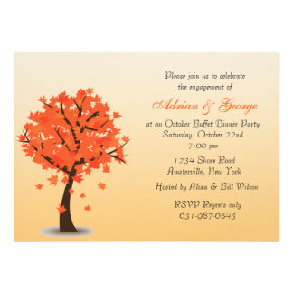 Autumn Tree Invitation