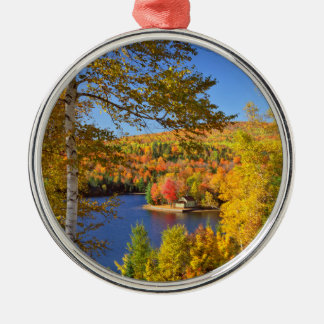Autumn tree landscape, Maine Metal Ornament