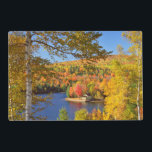 "Autumn tree landscape, Maine Placemat<br><div class=""desc"">USA,  Maine,  Bingham. Wyman Lake and autumn colors. 