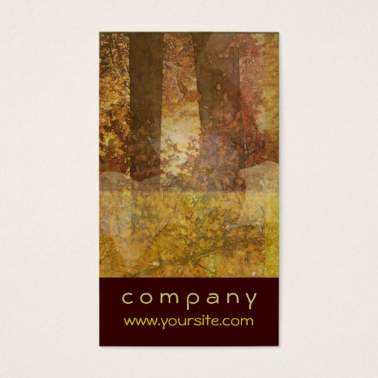 Autumn Tree Leaf Abstract Business Card