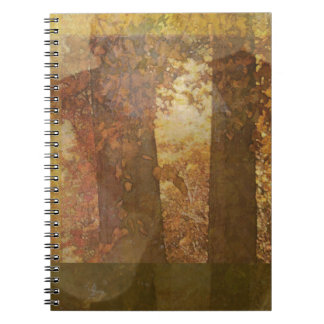 Autumn Tree Leaf Abstract Spiral Note Books