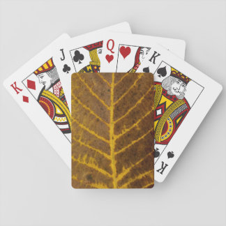 autumn tree leaf texture pattern background nature playing cards