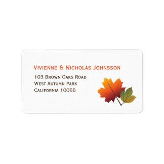 Autumn Tree Leaves Maple Custom Address Labels
