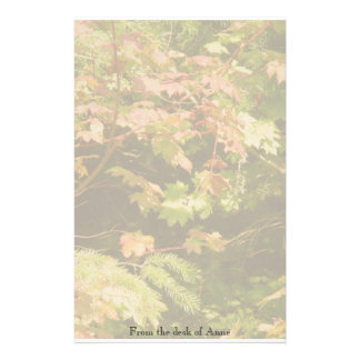 Autumn Tree Leaves Personalized Stationery