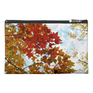 Autumn Tree Leaves Sky View Photo Travel Accessories Bag