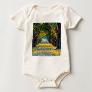 Autumn Tree Lined Roadway Louisville Kentucky Baby Bodysuit