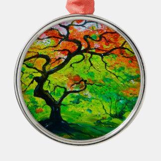 Autumn Tree Metal Ornament
