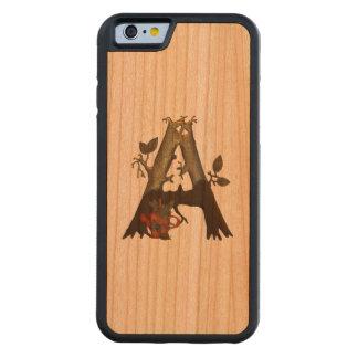 Autumn Tree Monogram A Carved Cherry iPhone 6 Bumper Case