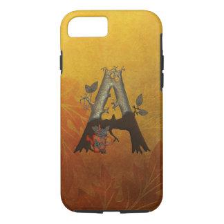 Autumn Tree Monogram A iPhone 7 Case