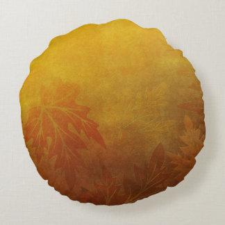 Autumn Tree Monogram A Round Pillow