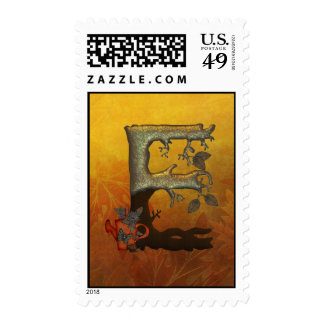 Autumn Tree Monogram E Stamps