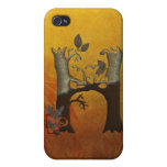 Autumn Tree Monogram H iPhone 4 Cases