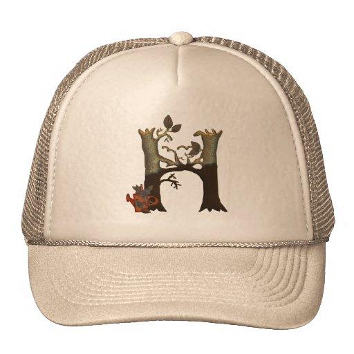 Autumn Tree Monogram H Mesh Hat