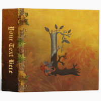 Autumn Tree Monogram L Binder