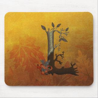 Autumn Tree Monogram L Mouse Pad