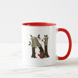 Autumn Tree Monogram N Mug