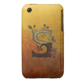Autumn Tree Monogram S iPhone 3 Case-Mate Case