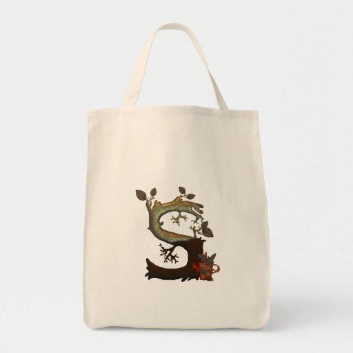 Autumn Tree Monogram S Tote Bag
