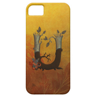 Autumn Tree Monogram U iPhone SE/5/5s Case