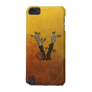 Autumn Tree Monogram V iPod Touch 5G Cases
