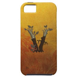 Autumn Tree Monogram V iPhone SE/5/5s Case