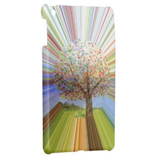 Autumn Tree Multicolored Stripes iPad Mini Cases