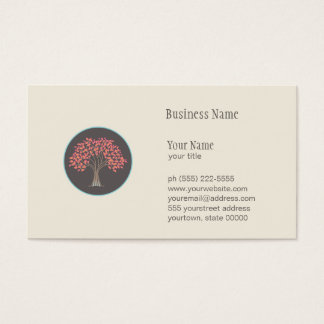 Autumn Tree Nature, Health and Landscaping Business Card